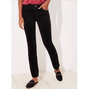 NWT Loft Slim Black Corduroy Pants